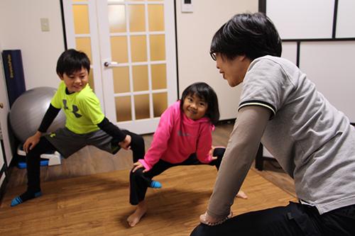 子供さんの運動指導