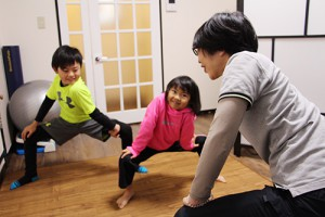 子供達への運動指導